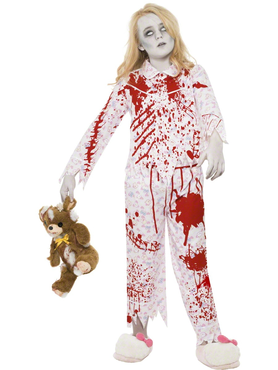 Halloween Zombie Costumes For Girls.Zombie Pyjama Girl Costume