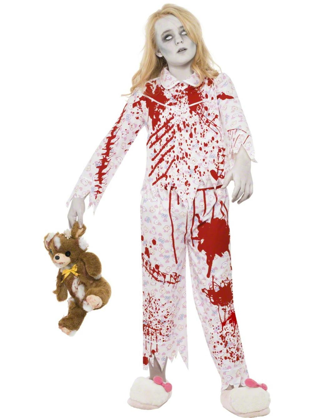 Zombie Pyjama Girl Costume All Halloween Mega Fancy Dress