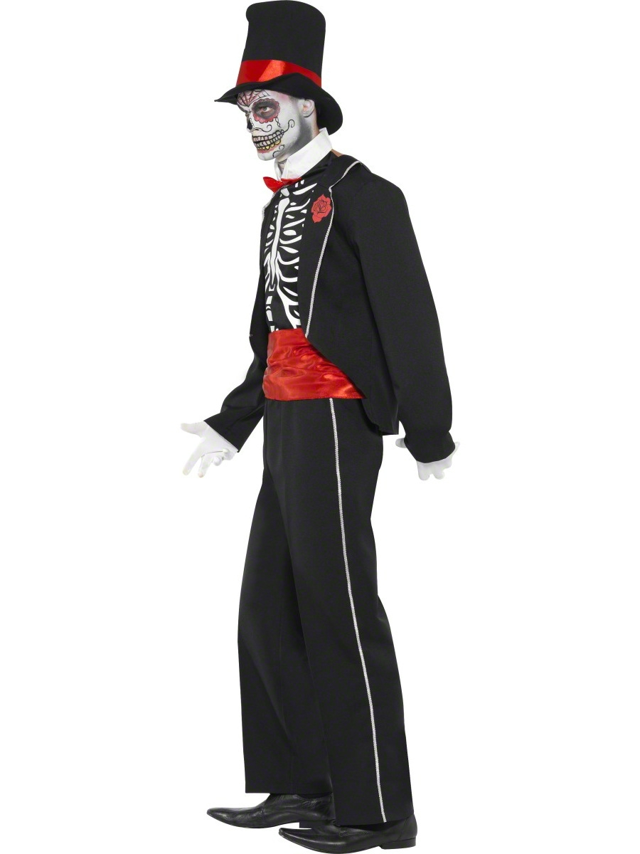 skeleton voodoo mens halloween day of the dead fancy dress james