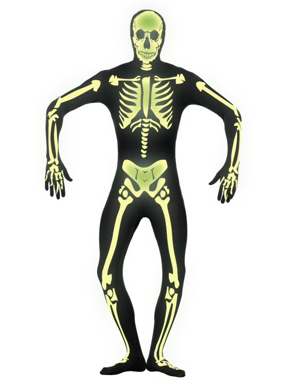 Glow in the Dark Skeleton Second Skin Suit