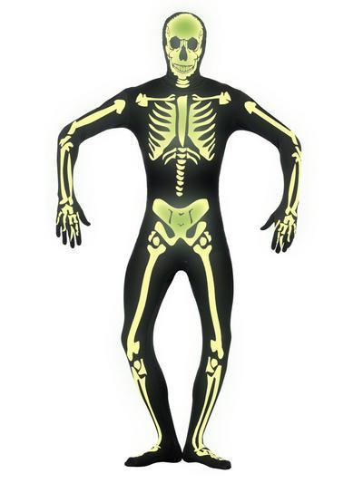 Glow in the Dark Skeleton Second Skin Suit