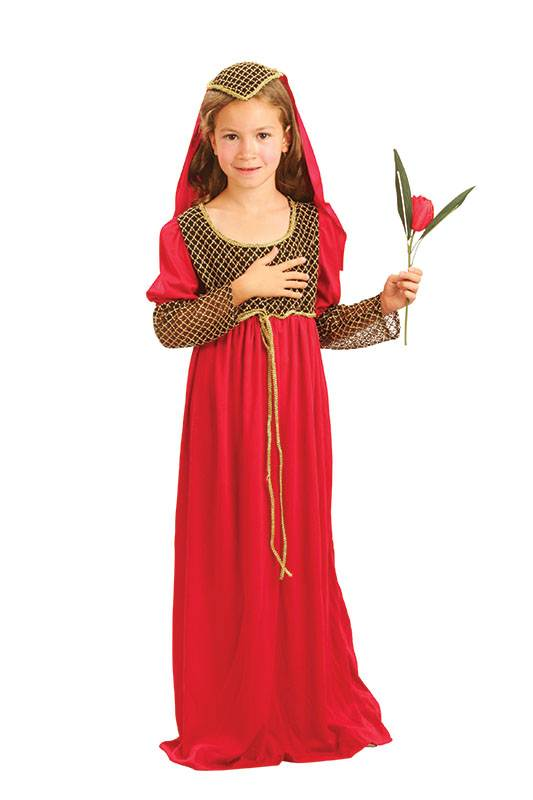 famous brand new styles sale retailer Details about Girls Juliet Fancy Dress Kids Medieval Book Character  Childrens Kids Costume