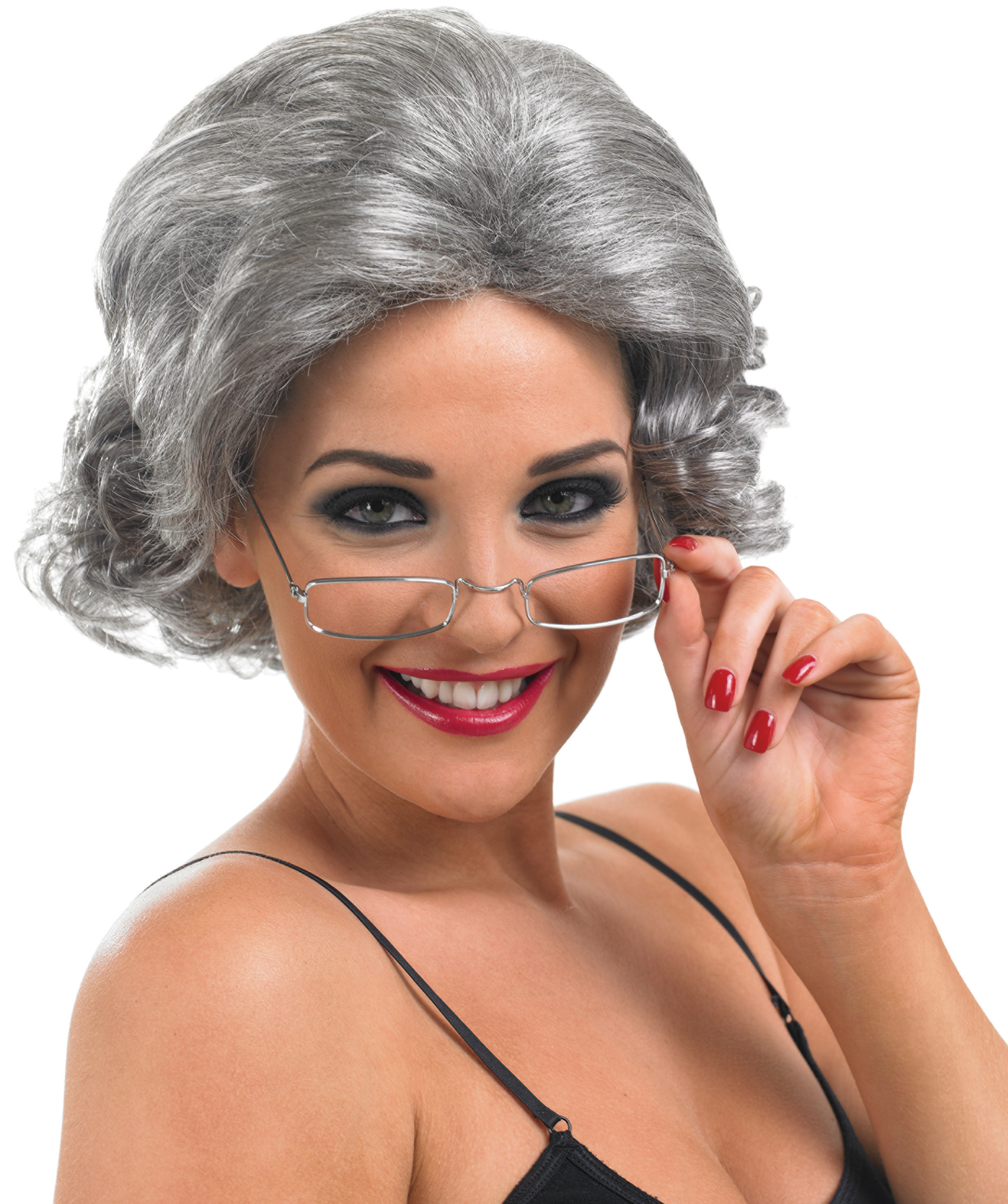 Grey Granny Wig Letter Quot G Quot Costumes Mega Fancy Dress