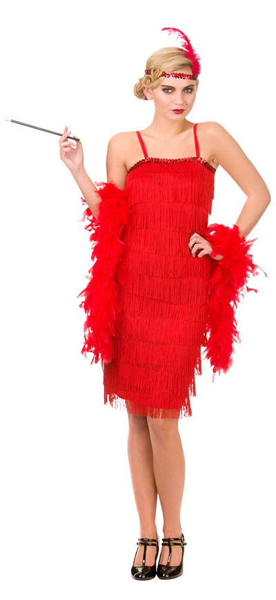 Jazzy Red Flapper Costume