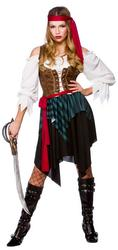 Womens Caribbean Pirate Fancy Dress Costume