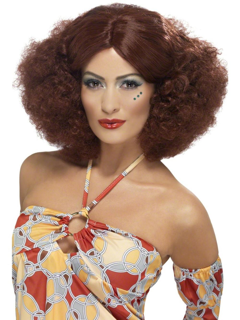 70s Auburn Afro Wig
