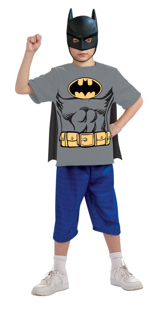 Batman Women/'s Cape And Mask Costume Tee Shirt Grey