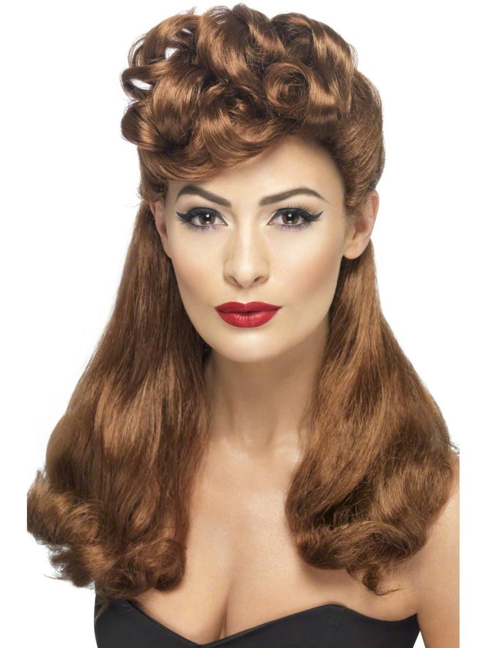 40s Auburn Vintage Wig