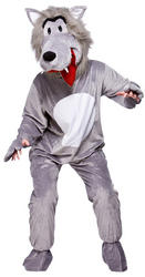Big Bag Wolf Mascot Costume
