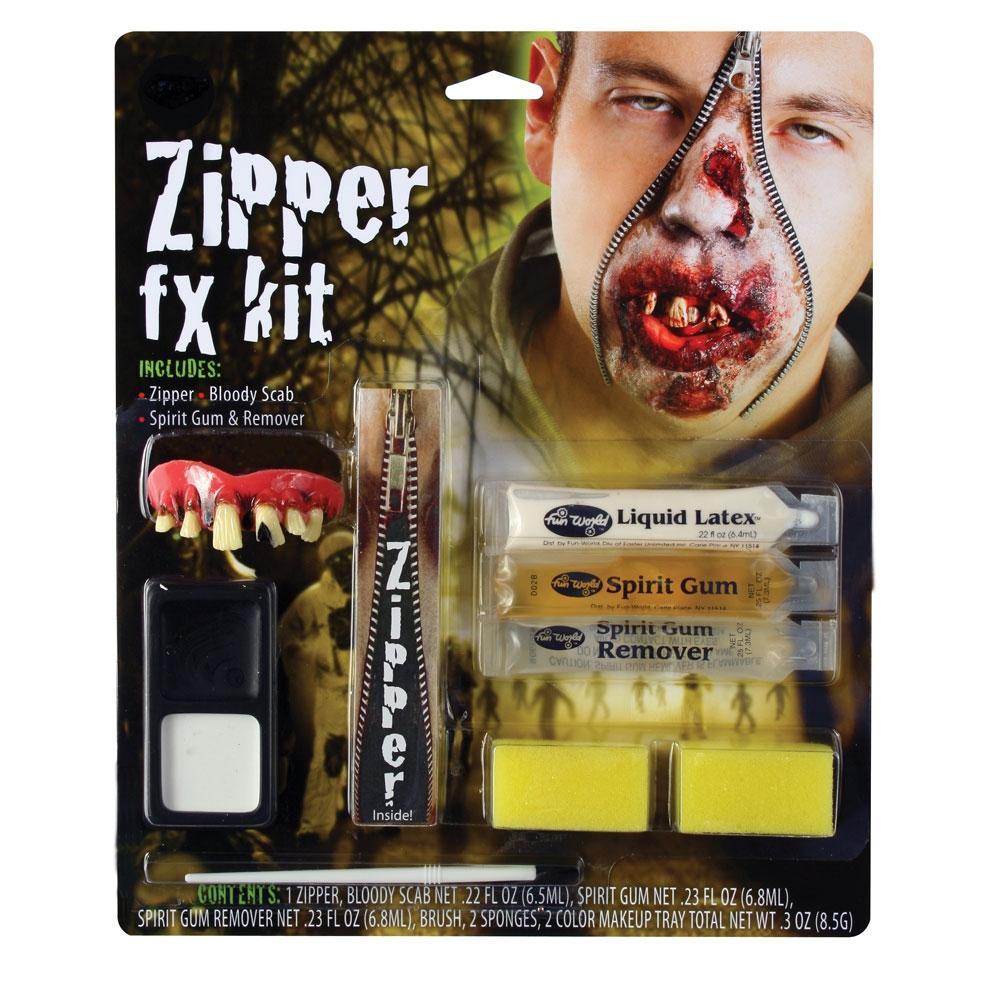Deluxe Zipper FX Zombie Makeup