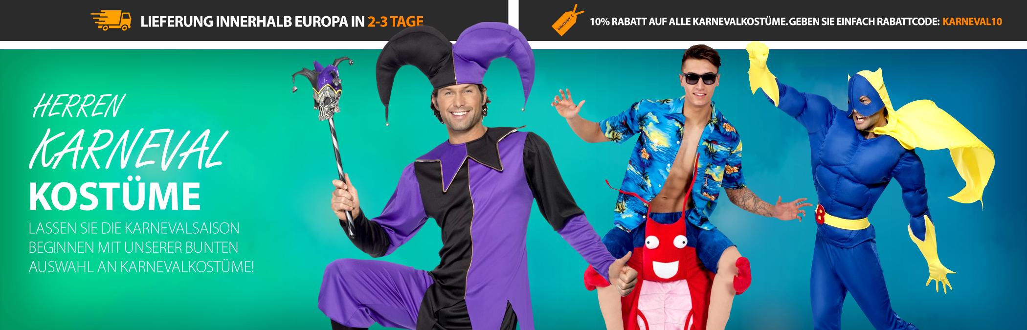 Herren Karneval Kostume Mega Fancy Dress