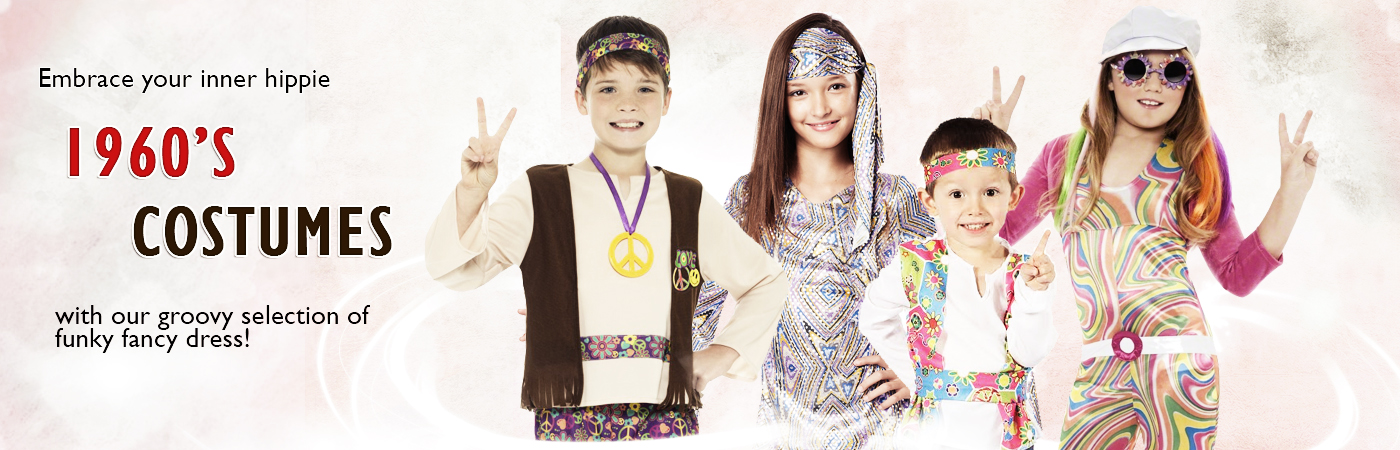 90702e2c1 Rewind the clock and take your Little one back to the swinging 60s with our  fantastic range of Kids 1960s inspired fancy dress costumes.