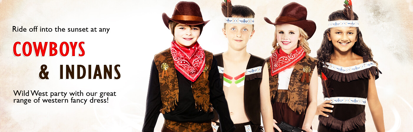 Cowboy and Indian Costumes