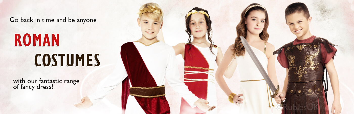 Sign them up for the Roman empire with our fantastic range of Roman inspired fancy dress costumes. Boyu0027s can dress as gallant gladiators in our Boyu0027s ...  sc 1 st  Mega Fancy Dress & Roman Costumes | Mega Fancy Dress