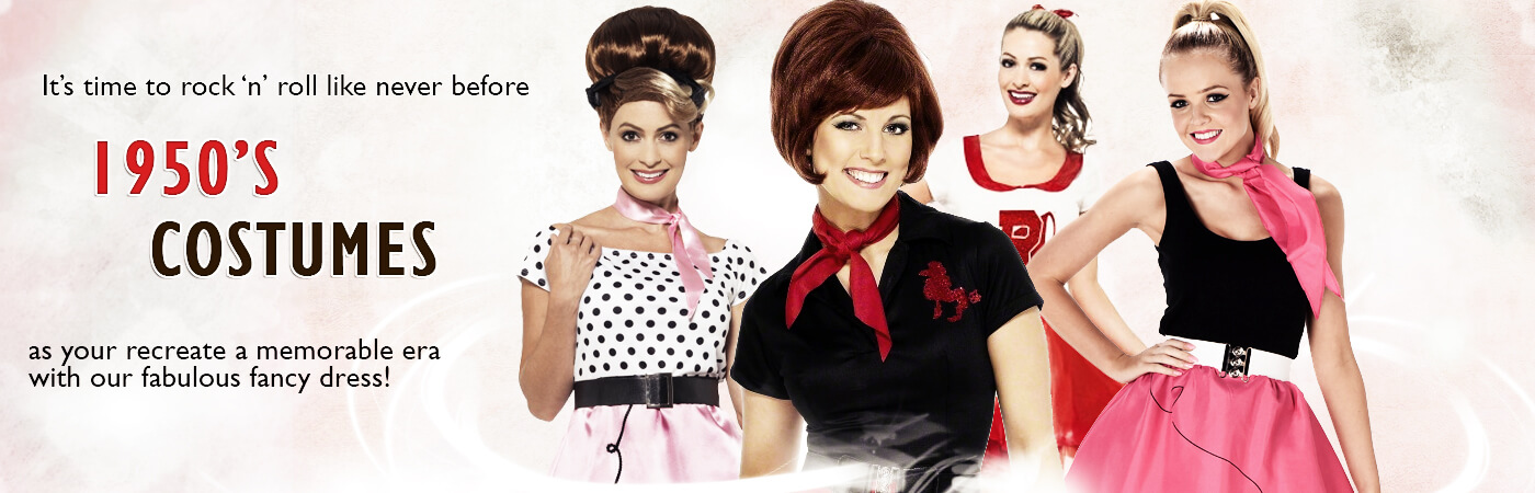 50's Costumes for Women | Mega Fancy Dress