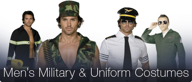 Mens Captain Officer Sailor Uniform Fancy Dress Army Military Costume Outfit