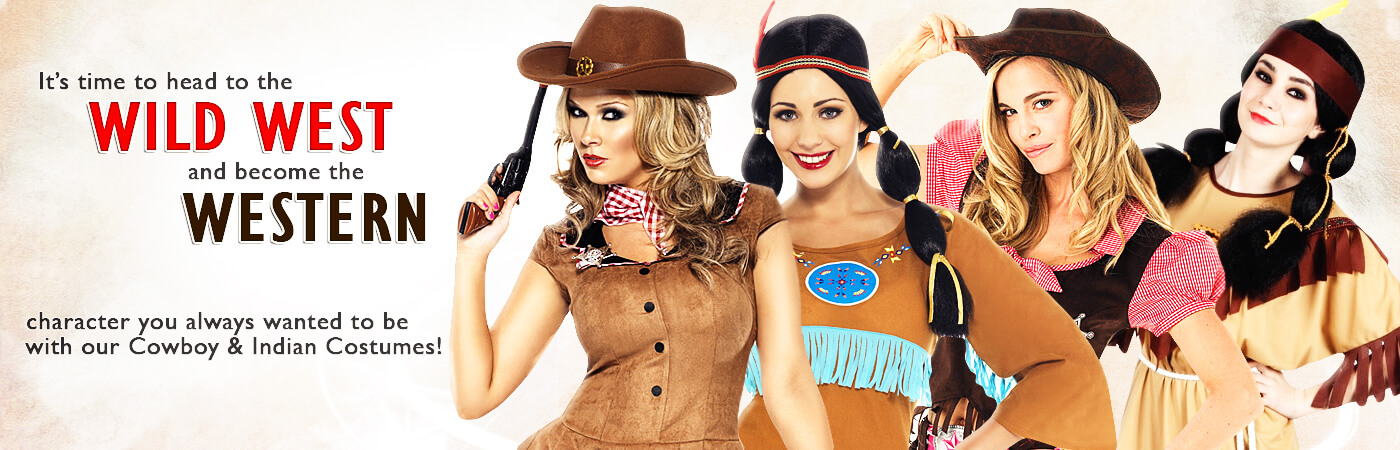 Cowgirls and Indians Fancy Dress | Mega Fancy Dress