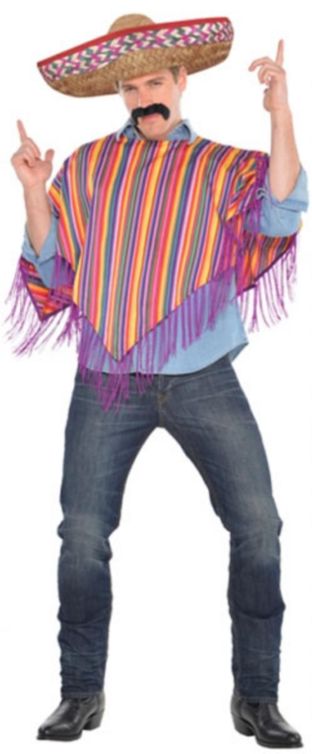 Mexican Poncho Costume Accessory