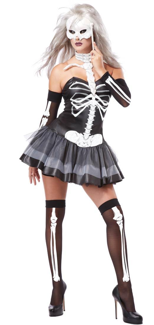 Sentinel Sexy Skeleton Masquerade + Mask Ladies Halloween Fancy Dress Womens Costume  sc 1 st  eBay & Sexy Skeleton Masquerade + Mask Ladies Halloween Fancy Dress Womens ...
