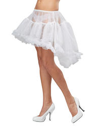 White Hi-Low Pettiskirt