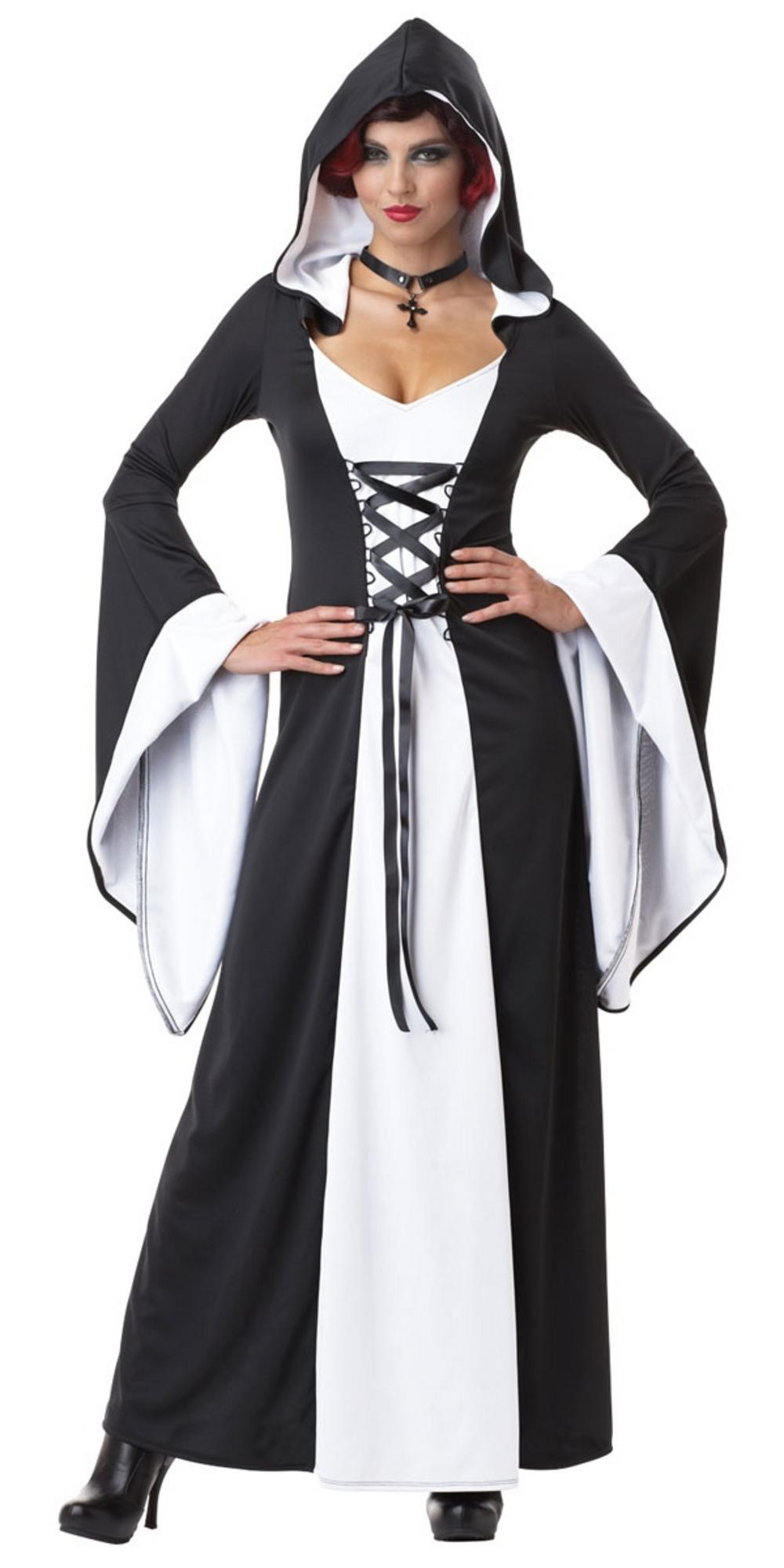 Black and White Hooded Costume
