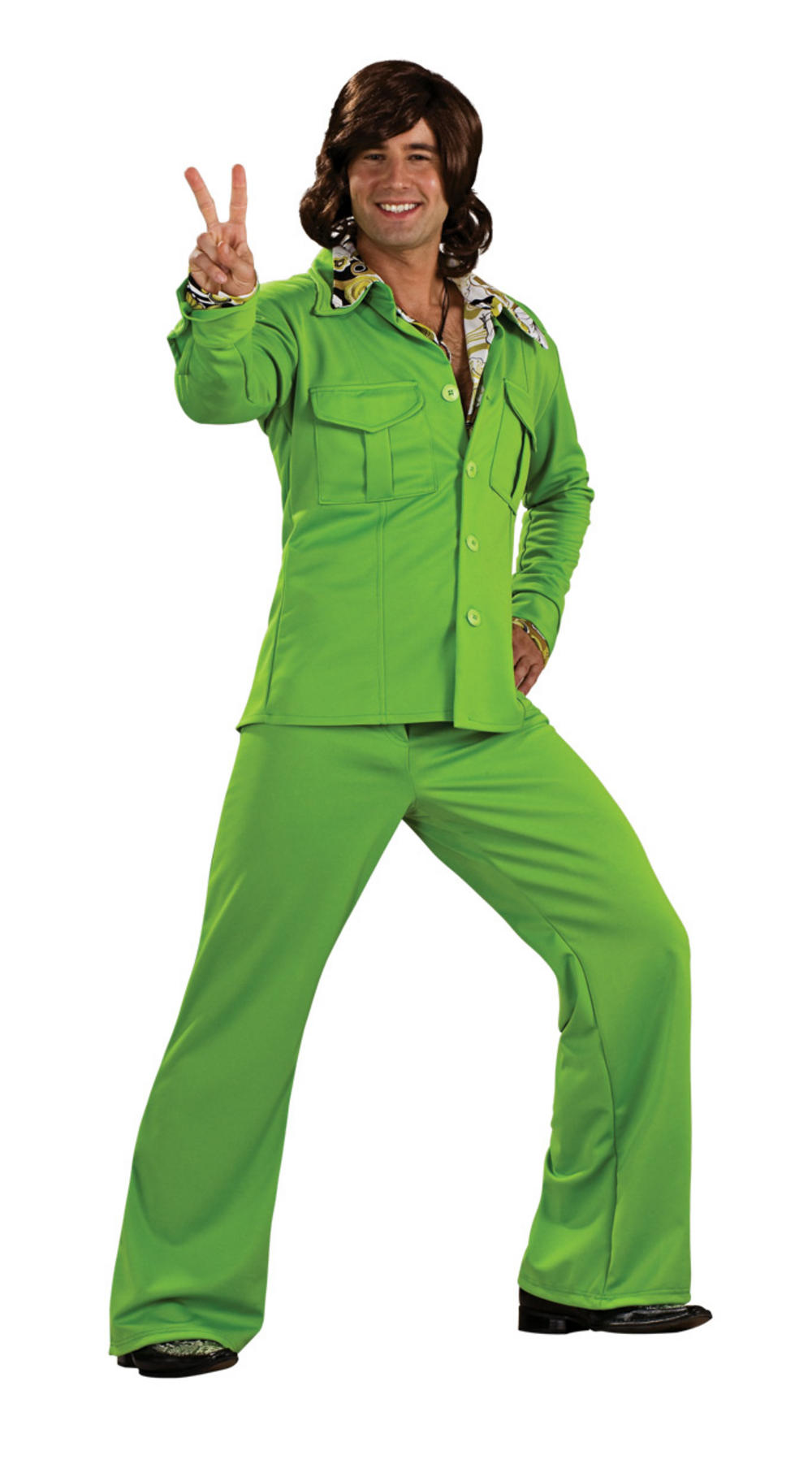 70s Green Leisure Suit Costume