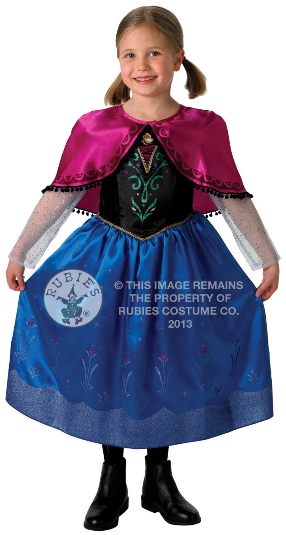 Deluxe Disney Princess Anna Costume  sc 1 st  Mega Fancy Dress & Deluxe Disney Princess Anna Costume | Frozen Fancy Dress | Mega ...