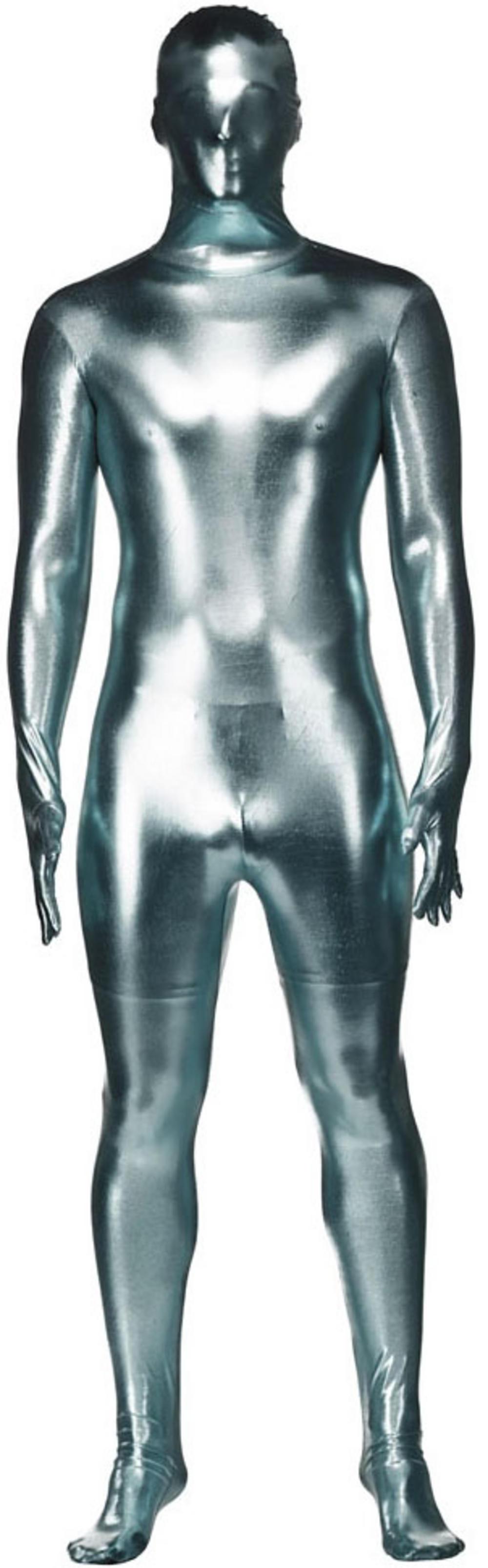 Silver Metallic Skinz Bodysuit