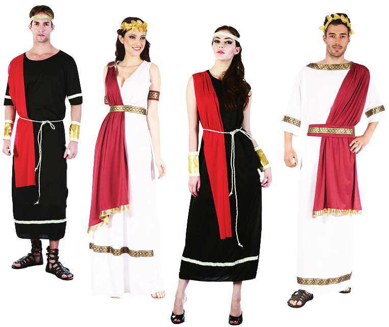 Roman Toga Adults Fancy Dress Ancient Greek Grecian Mens Ladies Costume Outfit
