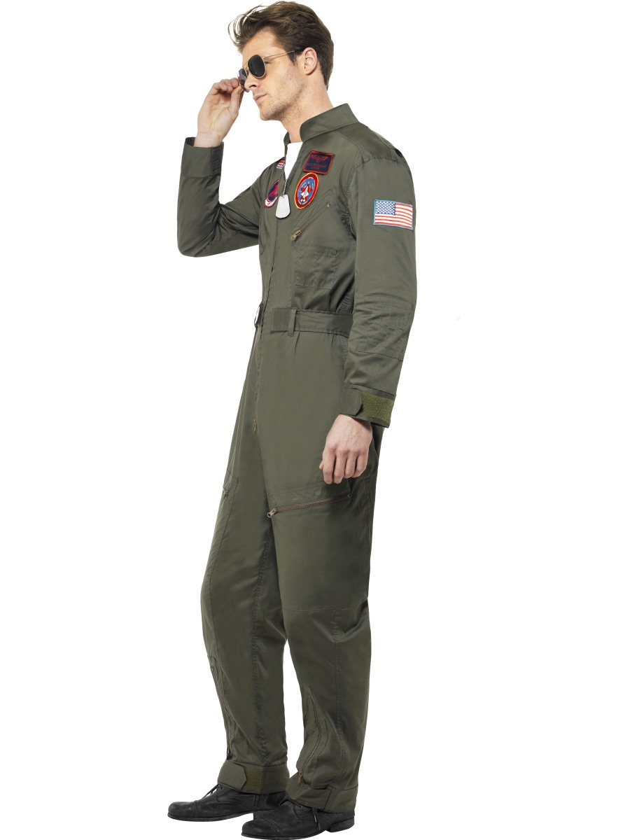 Sentinel Top Gun Aviator + Glasses Mens Fancy Dress Military 1980s Adults Costume Outfit  sc 1 st  eBay : top gun costume for men  - Germanpascual.Com