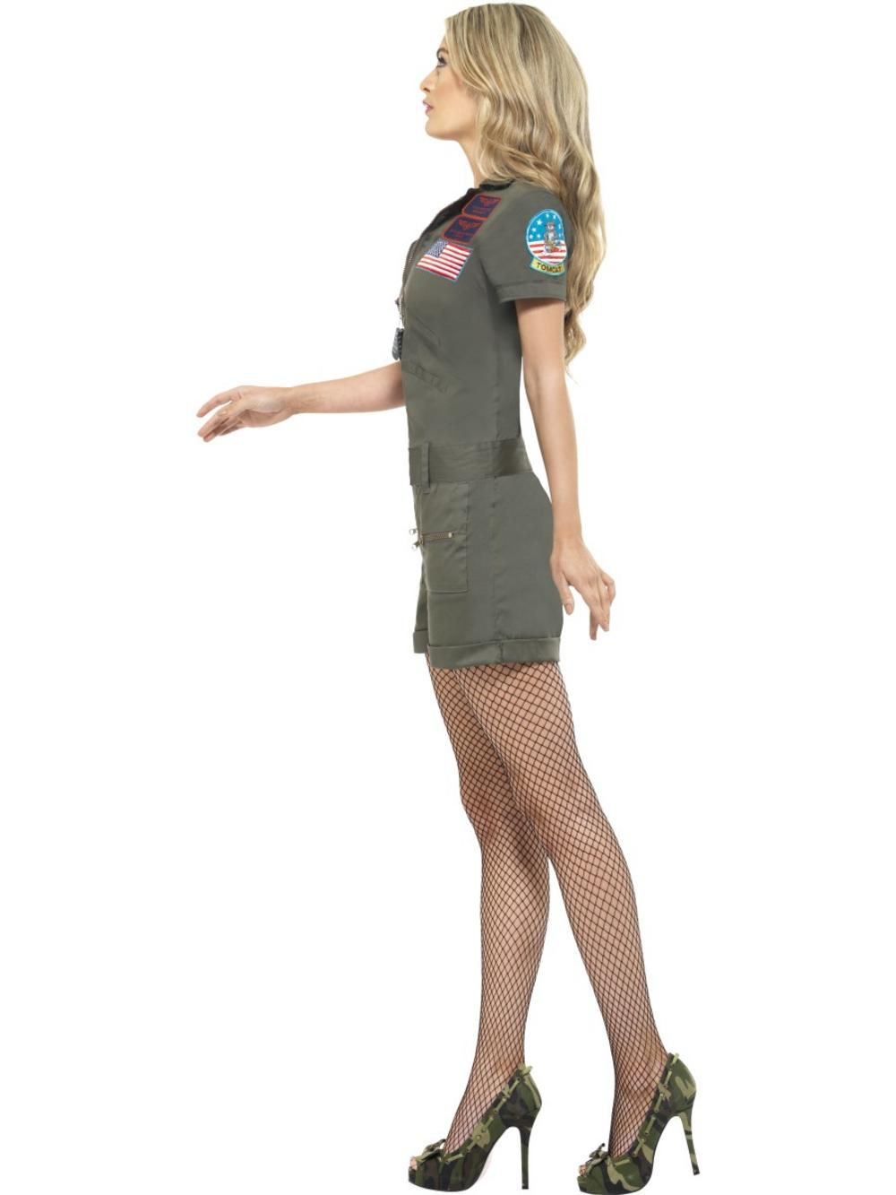 Top Gun Aviator Playsuit Costume All Ladies Costumes