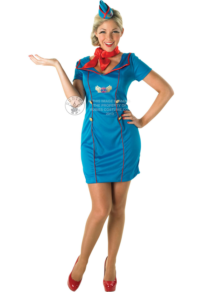 Plus size flight attendant fancy dress
