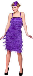 Jazzy Purple Flapper Costume