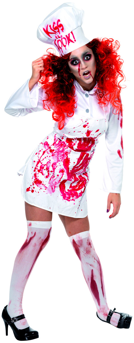Precise Halloween Costume Horror Bloody Apron Butchers Chef Kitchen Unisex Cook Adult Novelty Fancy Dress Party Supplies Aprons Home & Garden