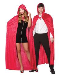 Deluxe Red Velvet Hooded Cape