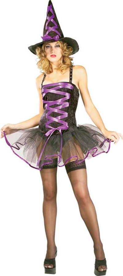 Purple Ballerina Witch Costume
