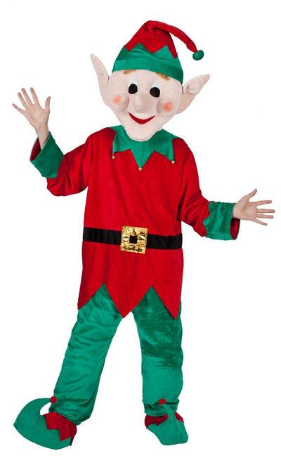 Mascot Santas Elf Helper
