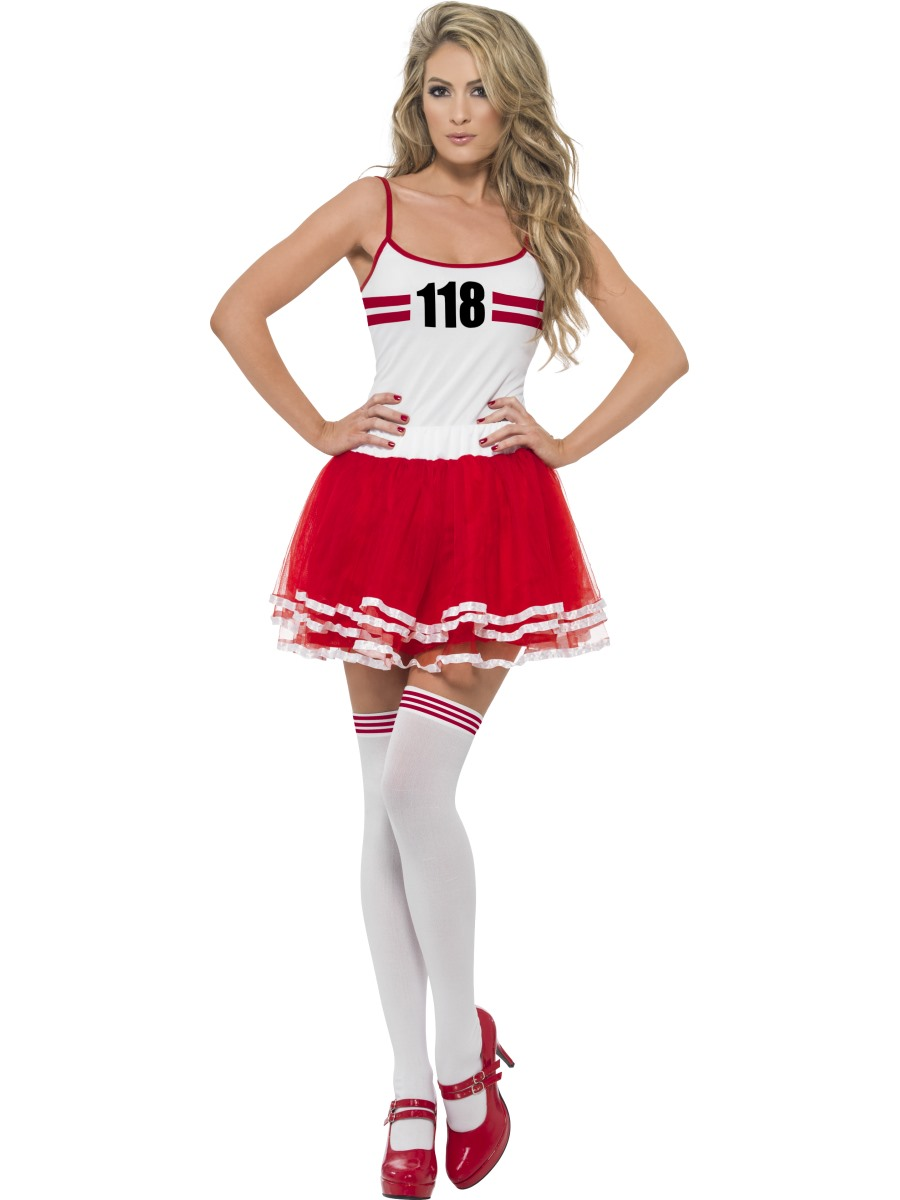 Sentinel 118 118 Marathon Set Ladies Fancy Dress 80s Novelty Sports Adults  Womens Costume