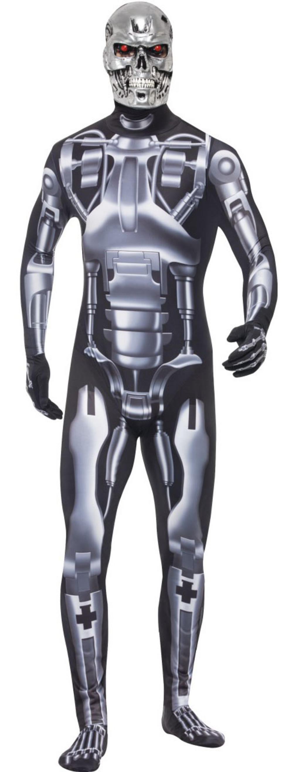 Terminator Endoskeleton Bodysuit Mens Fancy Dress Movie Character Costume Outfit