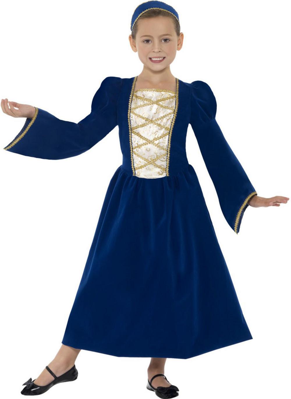 Kids Tudor Princess Girl Costume