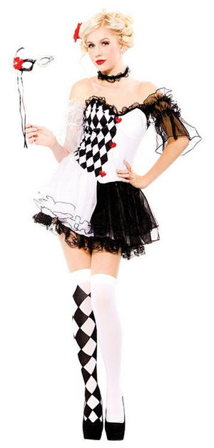 Ladies Sexy Harlequin Costume