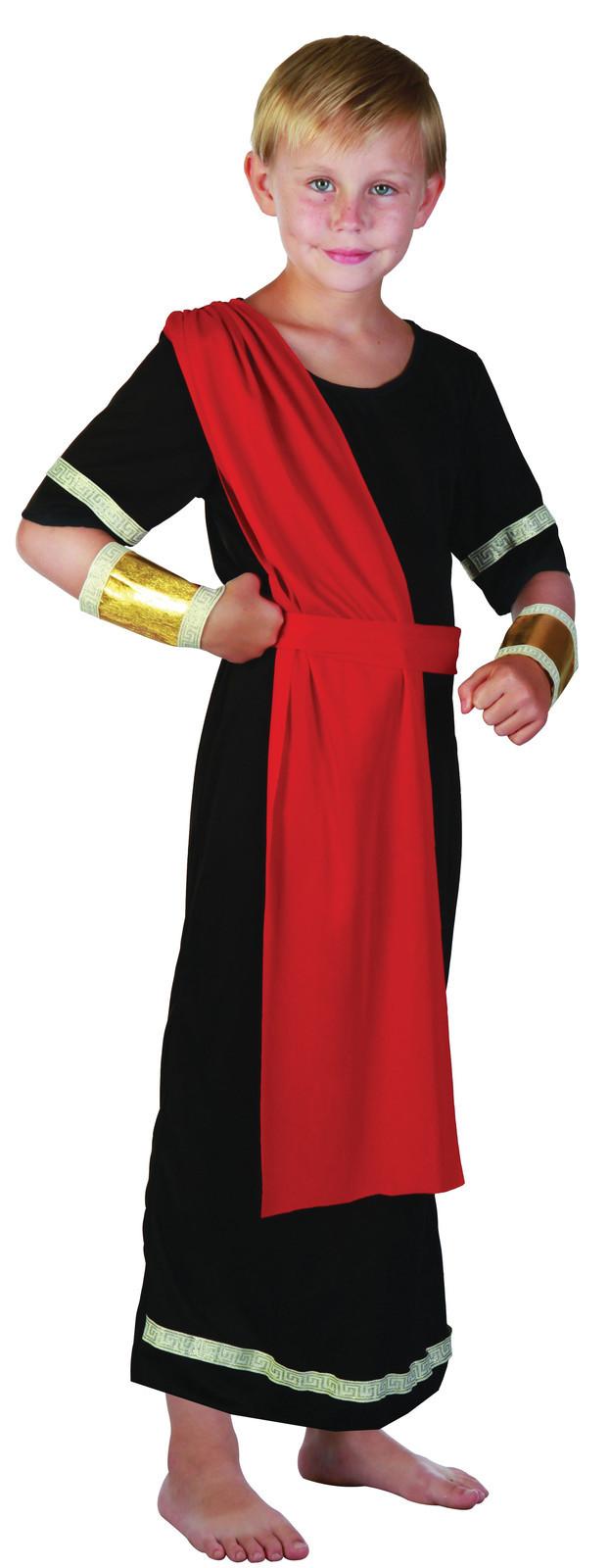 Boys Roman Emperor King Kids Julius Caesar Fancy Dress Toga Ancient Greek Outfit