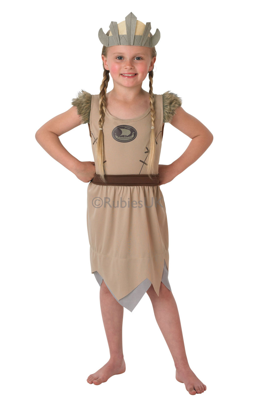 CHILDS VIKING COSTUME WITH HELMET SAXON WARRIOR BOOK WEEK FANCY DRESS OUTFIT