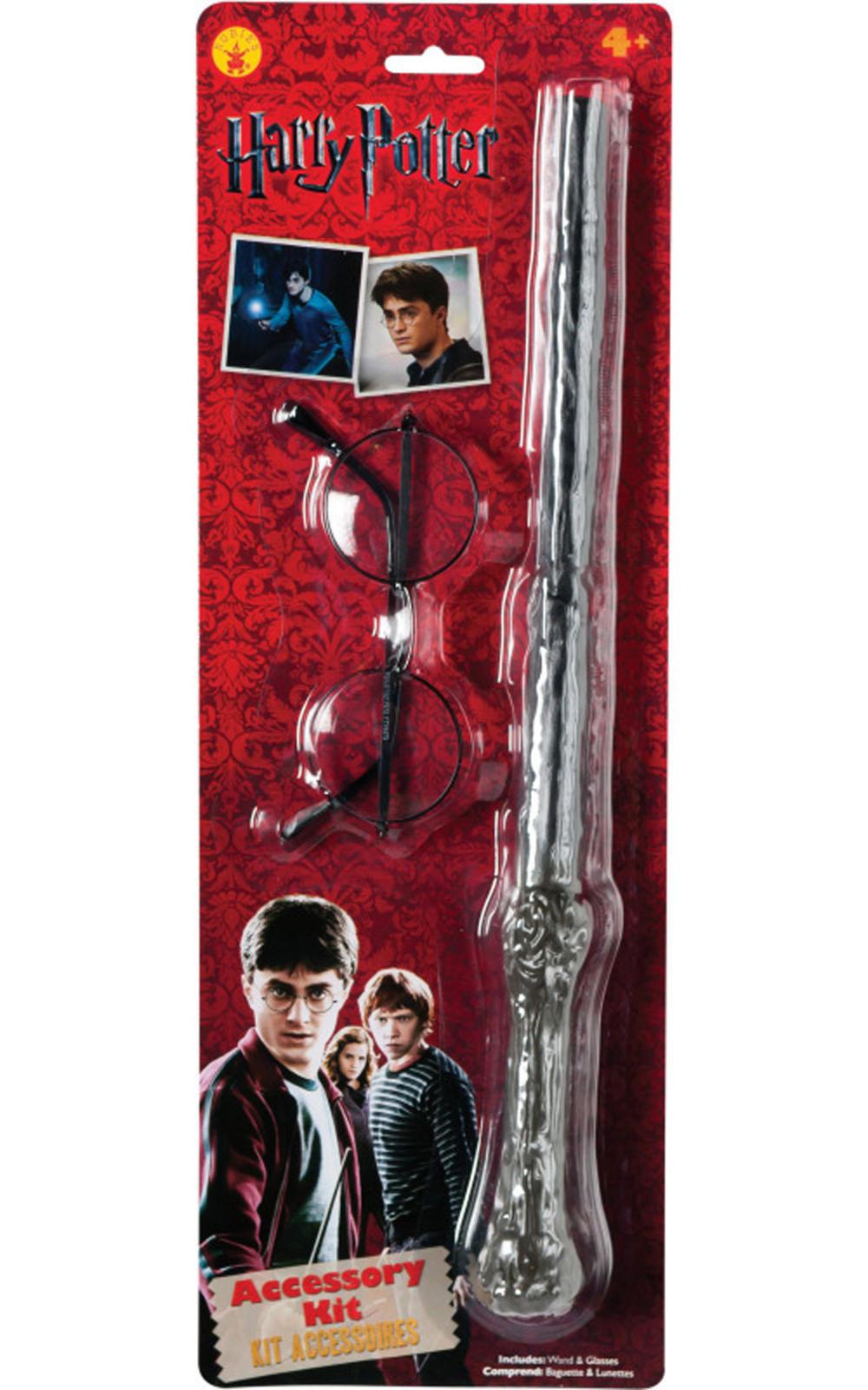Harry Potter Glasses & Wand Kit