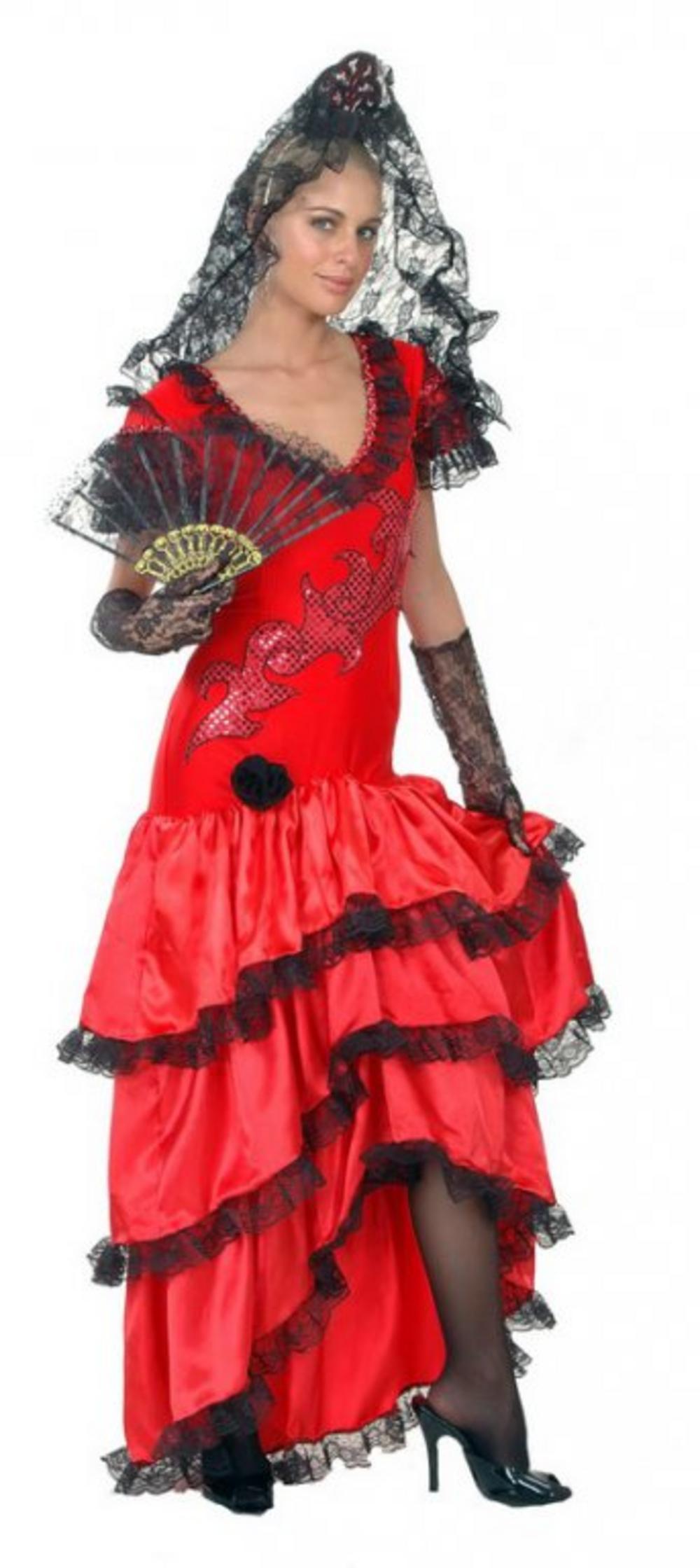 Spanish Flamenco Beauty Costume