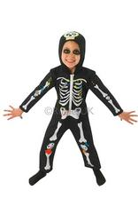 Toddlers Skeleton Costume