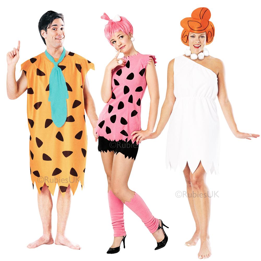 Cartoon Characters Costumes : The flintstones adults fancy dress cartoon tv characters