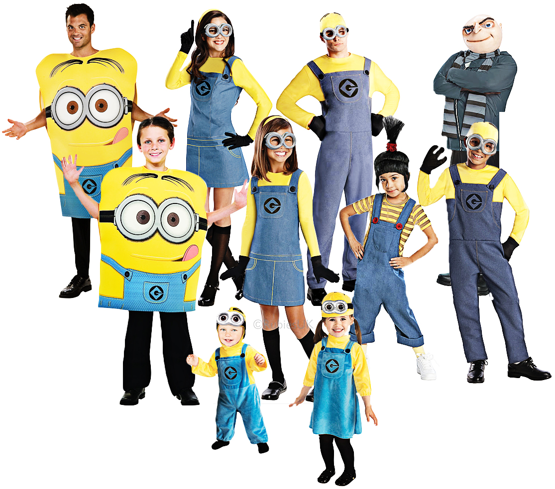 Sentinel Despicable Me Adults Fancy Dress Minions Gru Agnes Childrens Boys Girls Costumes  sc 1 st  eBay & Despicable Me Adults Fancy Dress Minions Gru Agnes Childrens Boys ...