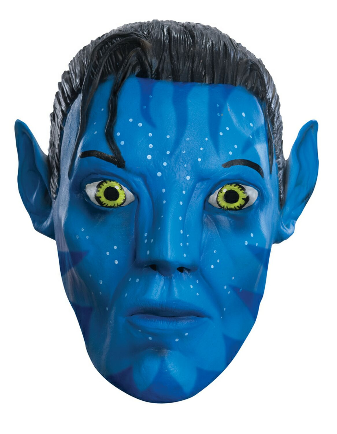 NEW FULL HEAD FACE AVATAR MASK WITH EARS MOVIE FILM JAKE SULLY LATEX FANCY DRESS