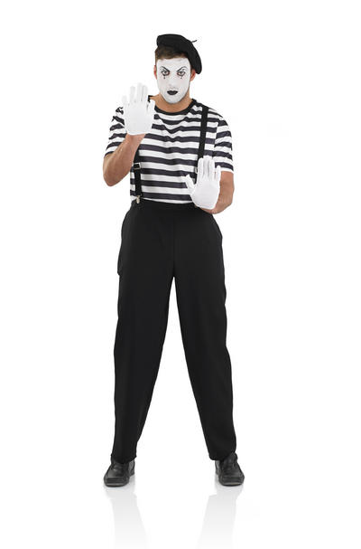 Male Mime Artist Costume